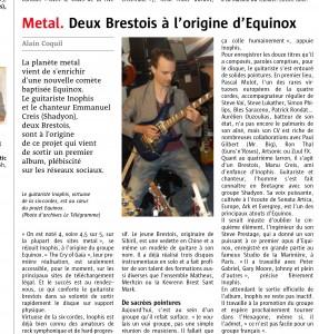 le telegramme equinox the cry of gaïa . Jan 2015